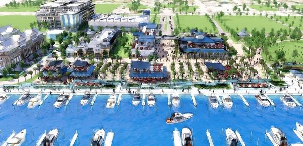 Artist's rendering of Riviera Beach Marina project. [Courtesy of APD-Tezral]